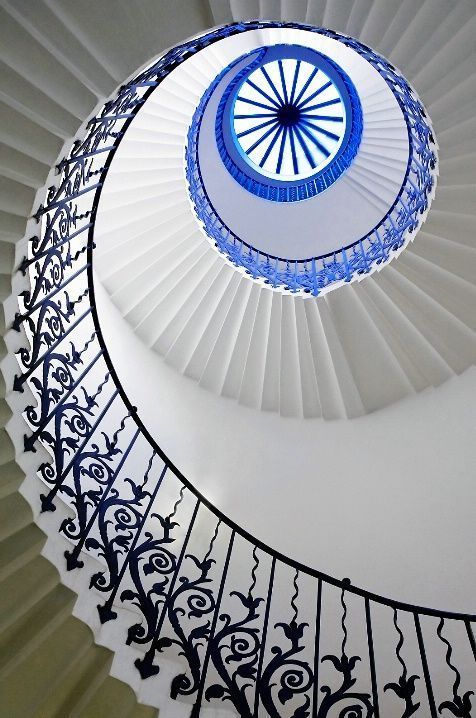 Tulip Eye - the wonderful tulip staircase in the Queen's House, Greenwich, London
