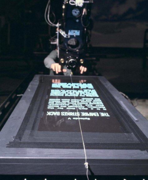 How the opening crawl of Star Wars was filmed