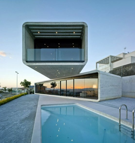 Retweeted Architecture ():  Crossed House / Clavel Arquitectos  La Alcayna, Spain