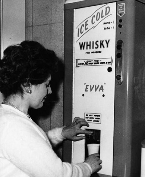 A whisky vending machine, 1960