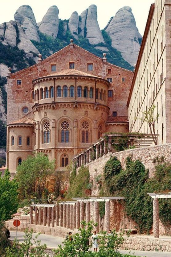 Montserrat Monastery is a beautiful Benedictine Abbey high up in the mountains near Barcelona.
