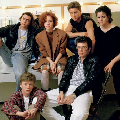The cast and director of The Breakfast Club, 1985