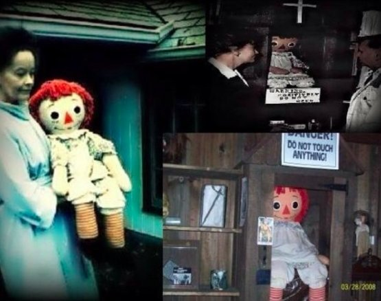 The Conjuring was a true story. The possessed evil doll Annabelle can be seen here.