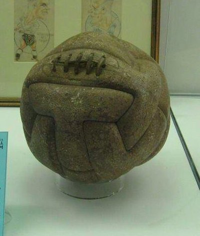 The First World Cup Soccer ball used in Final, 1930.