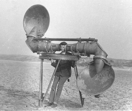 An acoustic listening device, WWI