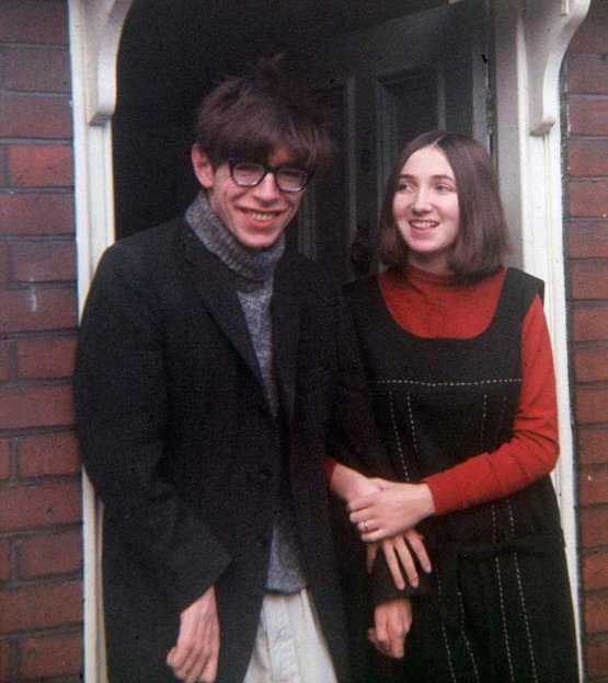 Stephen Hawking and his wife Jane Wilde, 1965