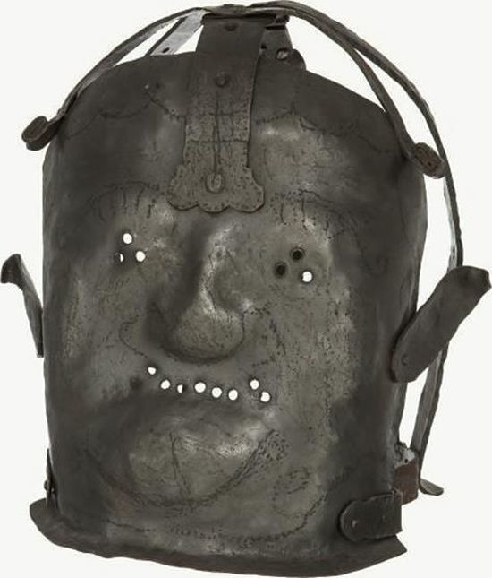 This is a 17th century insanity mask.
