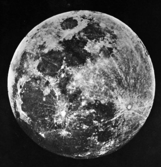 One of the earliest pictures of the moon by Dr. J. W. Draper of New York, 1840
