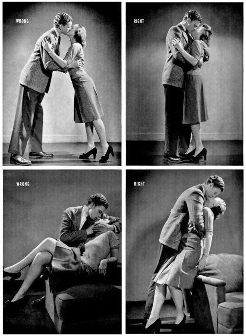 Life Magazine's Guide to Kissing, ca. 1942.