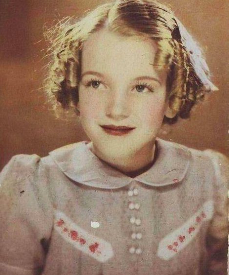 Norma Jeane Baker in 1933 (later known as Marilyn Monroe)