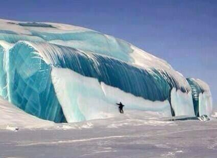 """ Frozen Tidal Wave In Antarctica"
