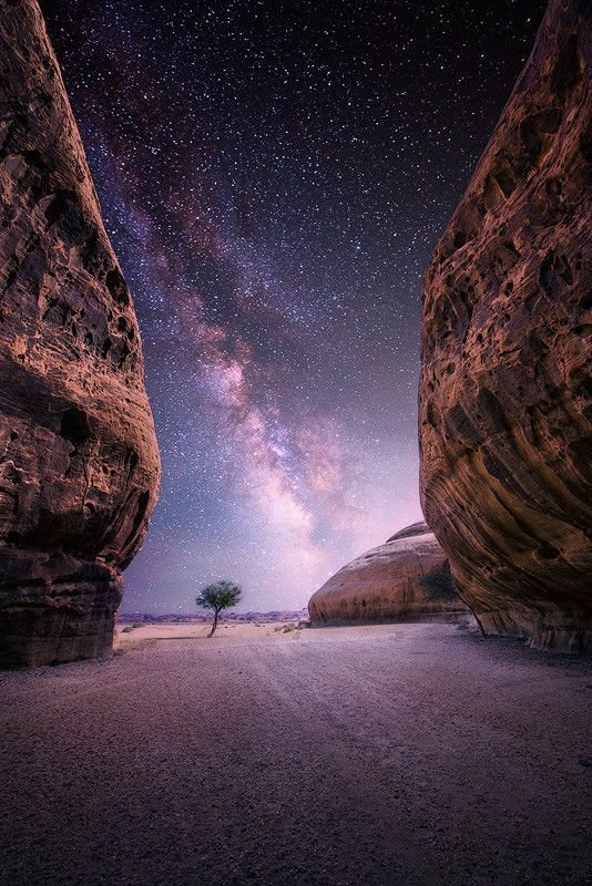 Milky Way near the oasis city of Al-Ula, Saudi Arabia