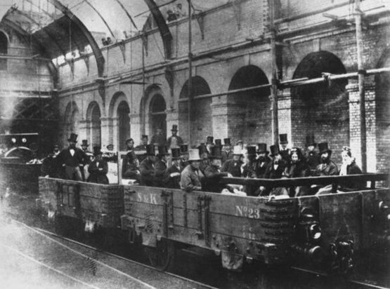 The London underground, c. 1863