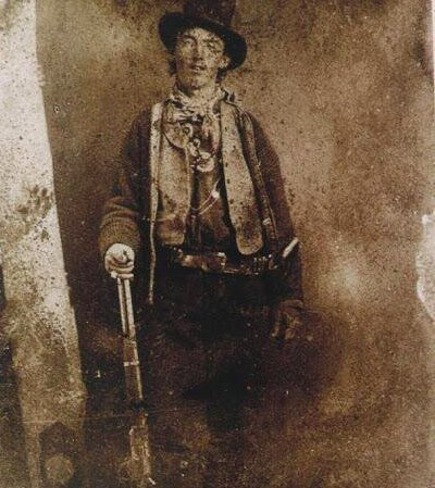 The only known authenticated photo (ferrotype) of Billy the Kid, c. 1879
