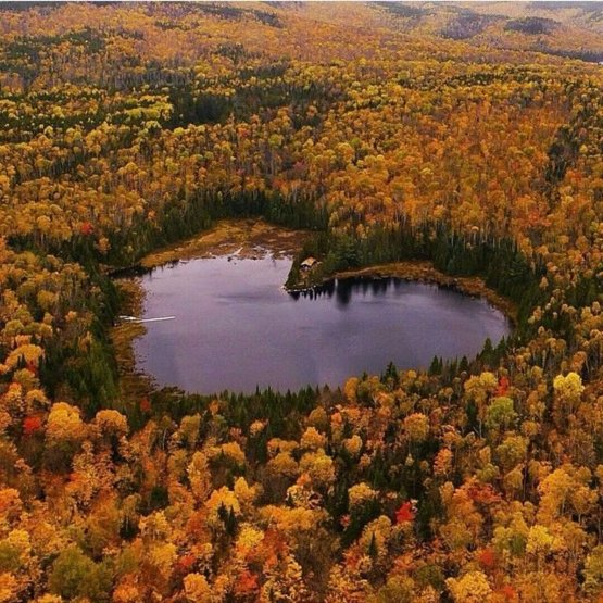 Heart Lake in Quebec, Canada