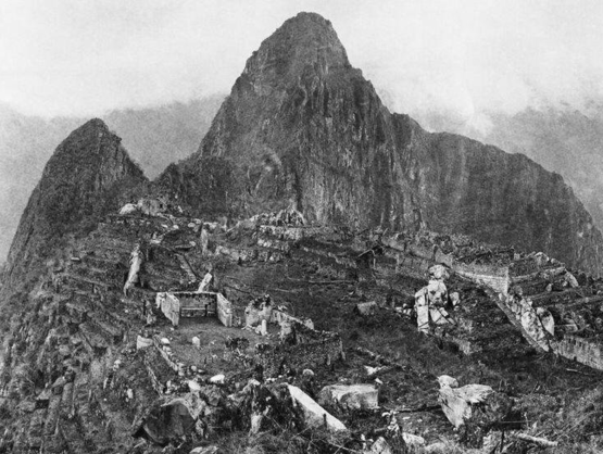 The first photo upon discovery of Machu Picchu, 1912