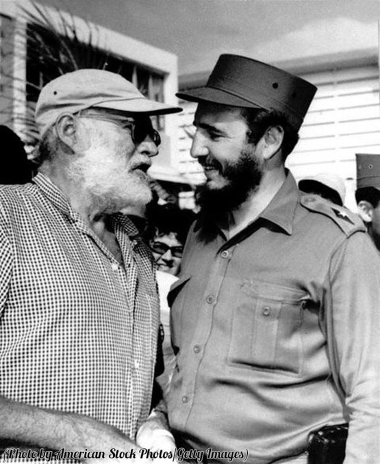 Ernest Hemingway and Fidel Castro, 1959.