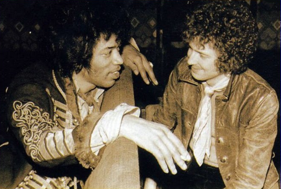 Jimi Hendrix and Eric Clapton, two of the greatest guitarists