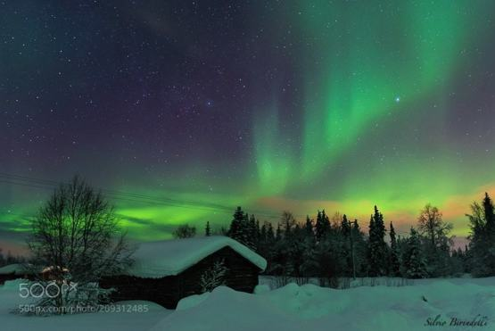 Aurora in Lapland photography by Silvio Birindelli