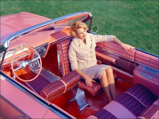 """1961 Buick """"Flamingo"""" with rotating front seat."""