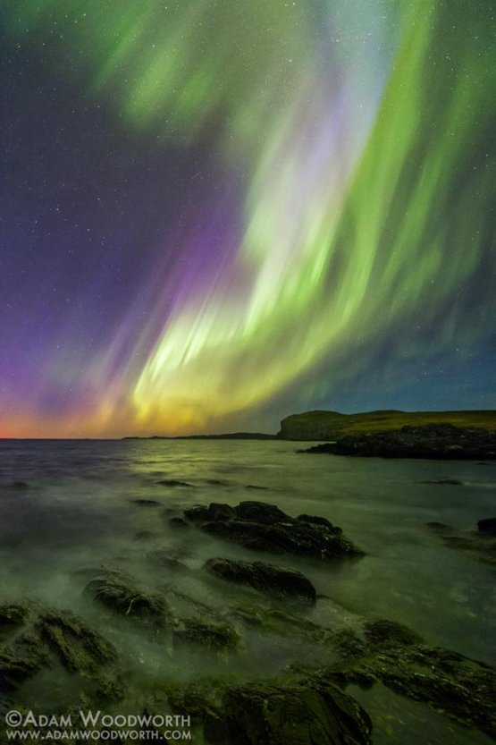 Hay Cove Aurora photography by