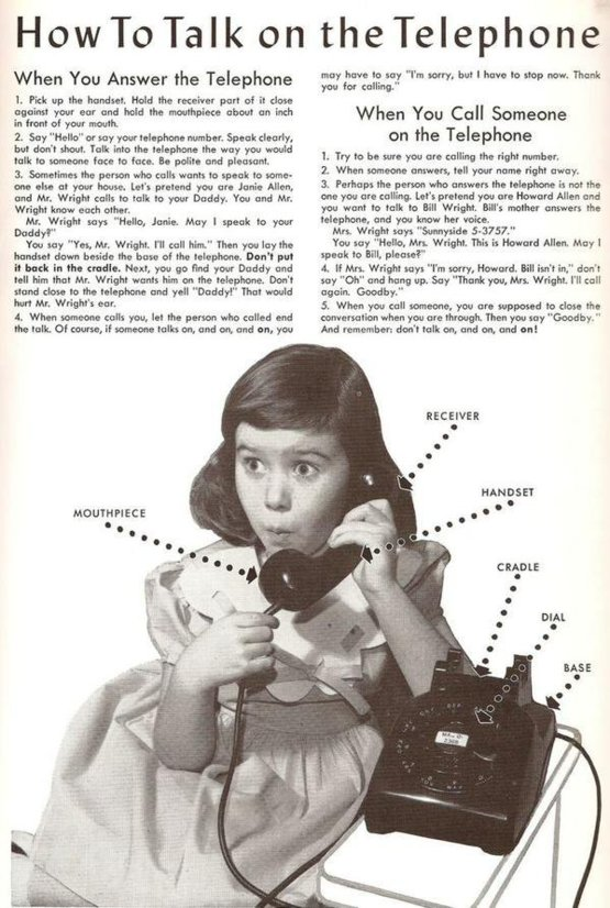 How to talk on the telephone.