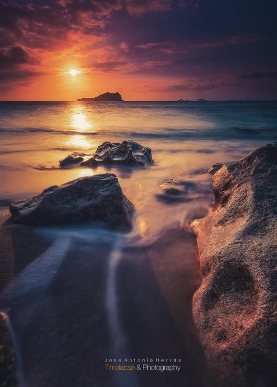 Amazing Sunset from Ibiza photography by