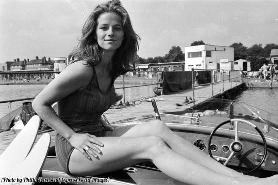 British actress and model Charlotte Rampling, 1965.