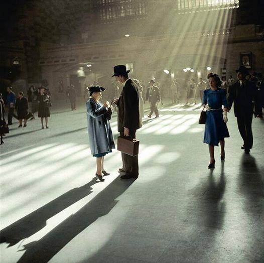 Grand Central, 1941 (Colorized)