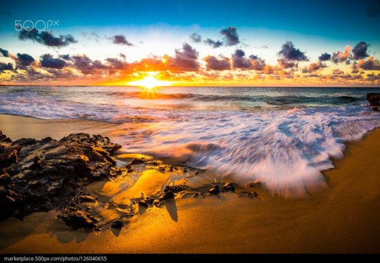 Sandy Beach Sunrise photography by Shane Myers