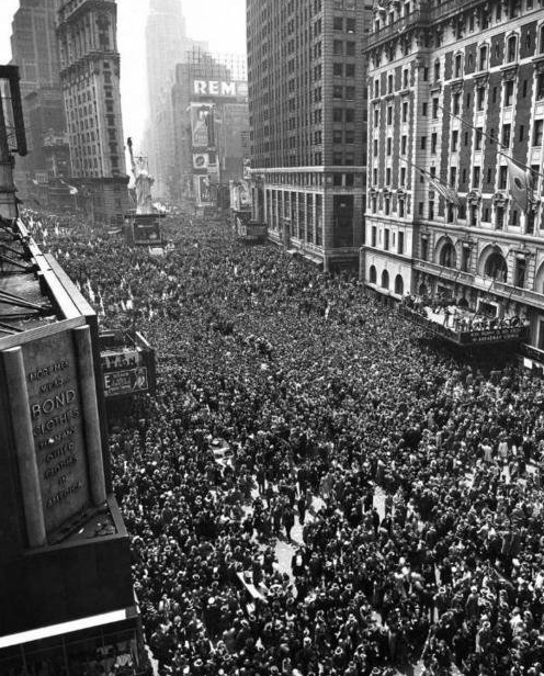 May 8th, 1945: Two million people gathered in Times Square