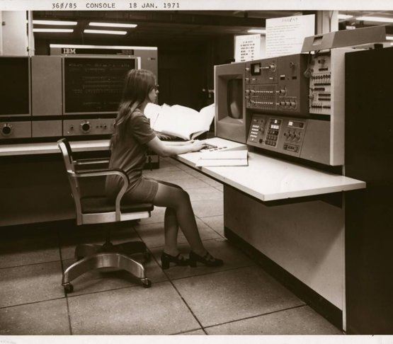 IBM console from the NSA, 1971.