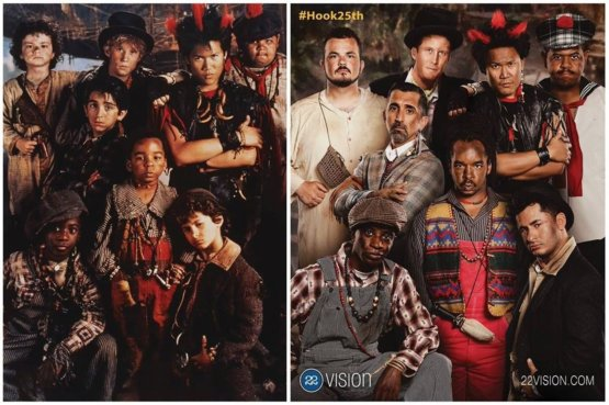 The Lost Boys from 'Hook' then and now.