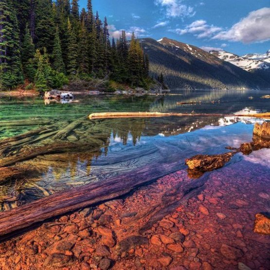 Explore the world. Garibaldi Lake, Vancouver
