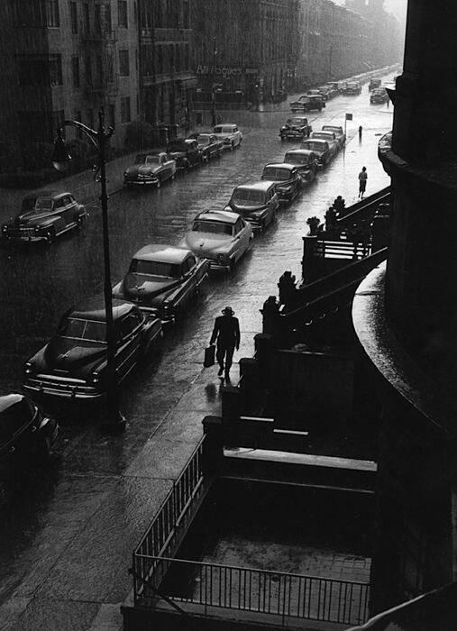 The Man in the Rain. By Ruth Orkin, New York, 1952.