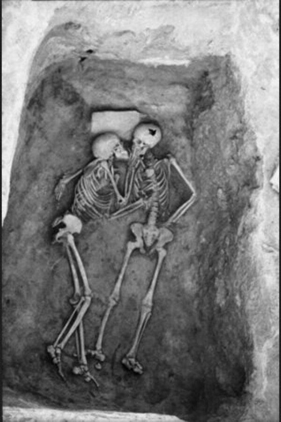 The 6,000 year old kiss found in Hasanlu, Iran. Love is stronger than time.  <<< Deep