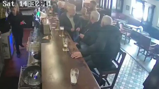 Conor McGregor punches an old man in the head after a whiskey dispute [via  ]