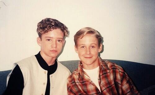 A young Justin Timberlake and Ryan Gosling in 1994.