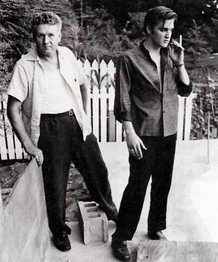 Elvis and his Dad mid 1950's