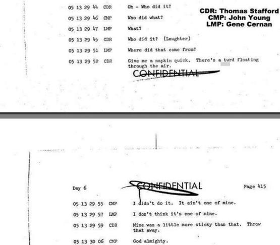 Apollo 10 had a little known incident in flight as evidenced by this transcript.