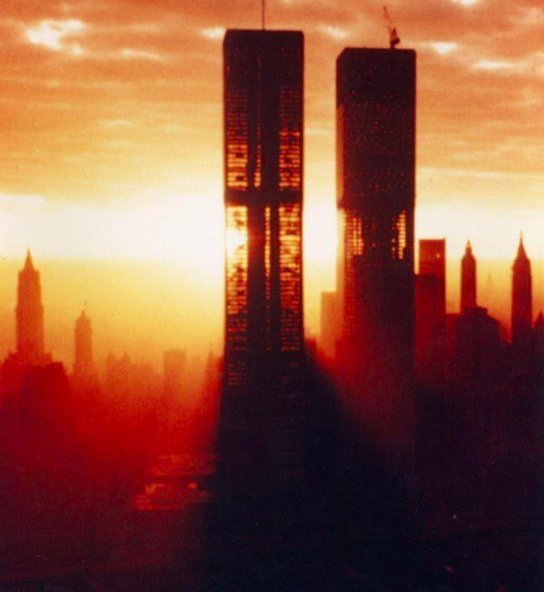 Incredible image of The Twin Towers in New York during construction