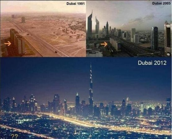 The incredible transformation of Dubai.