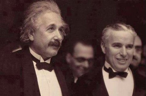 Einstein with Charlie Chaplin