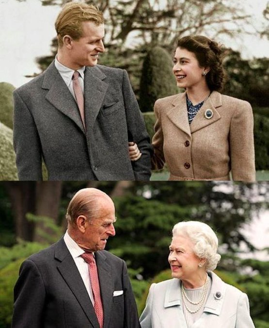 Queen Elizabeth and Prince Phillip, married since 1947