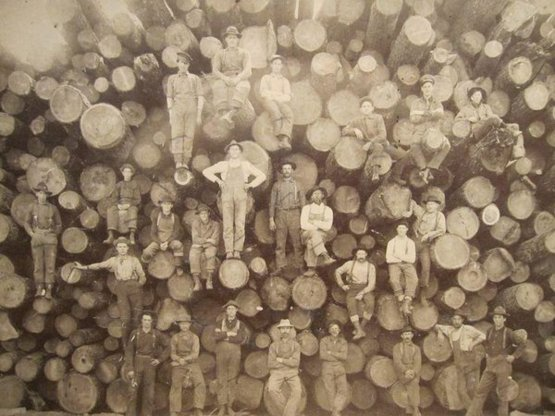 Early 1900s Lumberjacks.