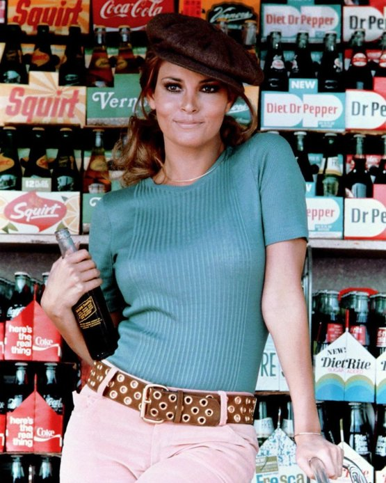 What it meant to be cool in the 1960s. Raquel Welch (right) and Pam Barkentin (left).