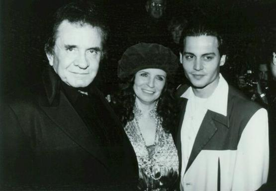 Johnny Cash, June Carter and a young Johnny Depp! 1993.