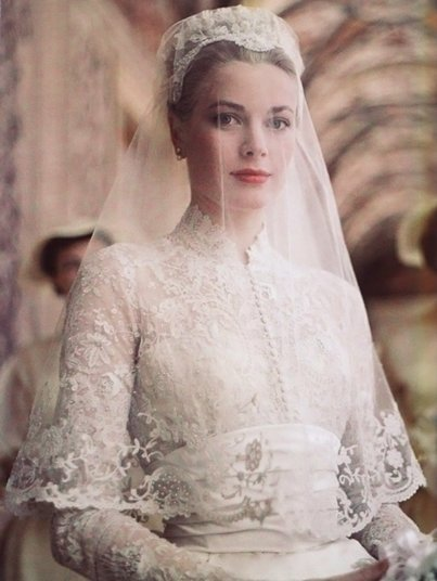 Grace Kelly on her wedding day, Monaco, April, 1956.