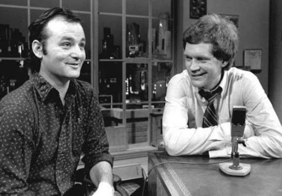 Bill Murray, during his interview as the first guest of the David Letterman Show, 1983