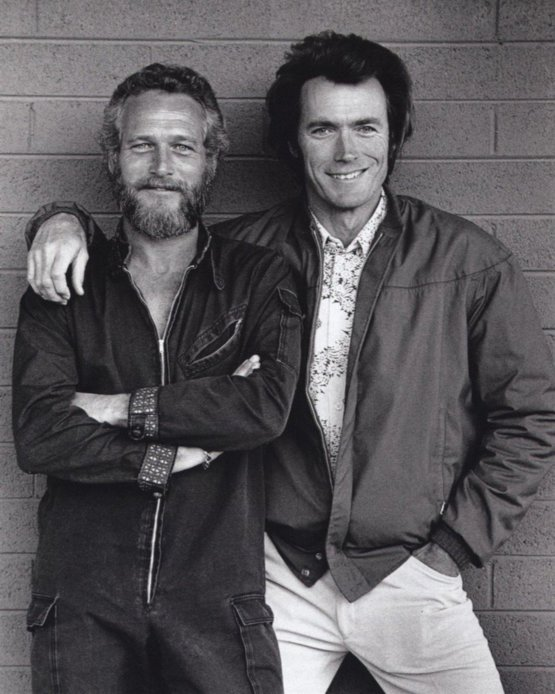 Paul Newman and Clint Eastwood, 1972. Photograph by Terry O'Neill.